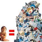 Um bebê = 25 toneladas de lixo