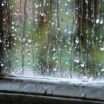 A chuva que cai lá fora